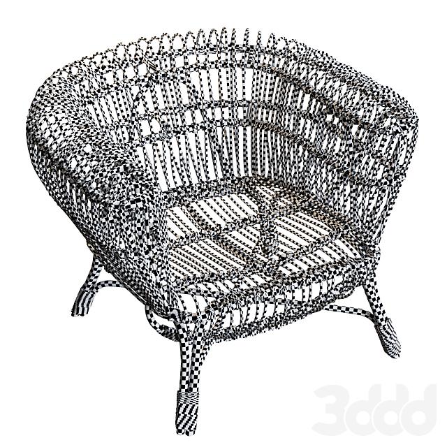 Handwoven Rattan and Kubu Roll Arm Calida Chair