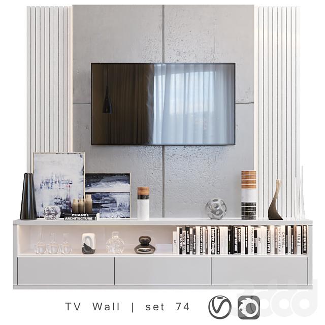 TV Wall   set 74