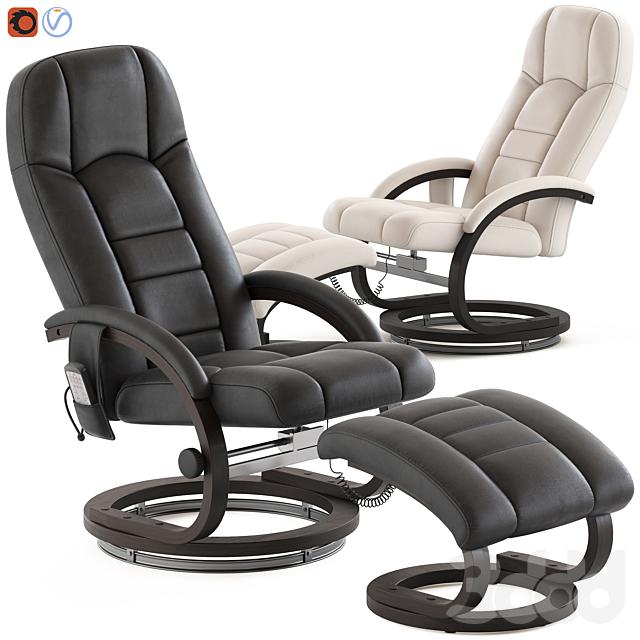 Essential Home Supply Malandi Massage Chair and Ottoman
