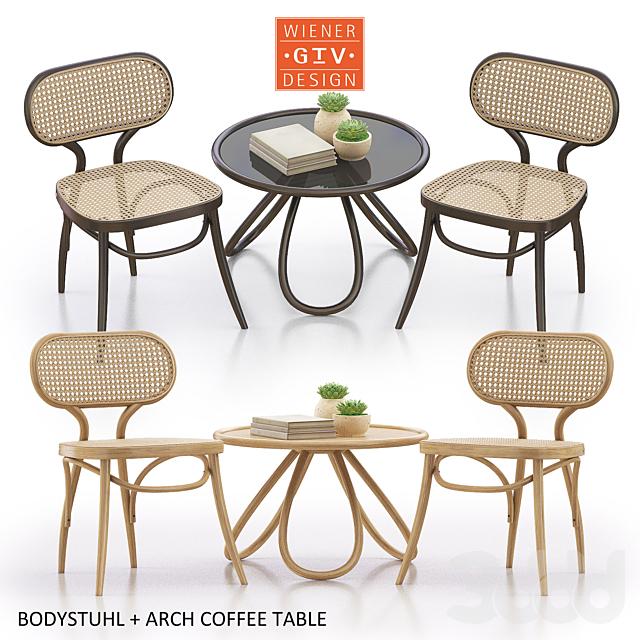 Bodystuhl + Arch Coffee Table