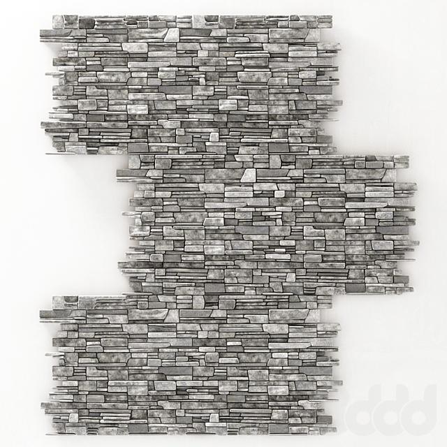 Wall stone clincer rock decor n1 / Каменная клинкерная стена