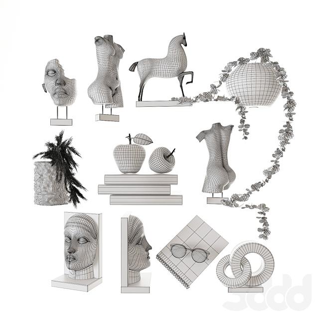Декоративный набор для наполнения полок 9