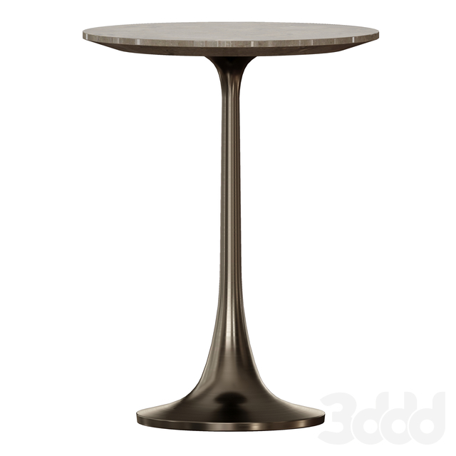 Nero Brown Marble Accent Table (Crate and Barrel)