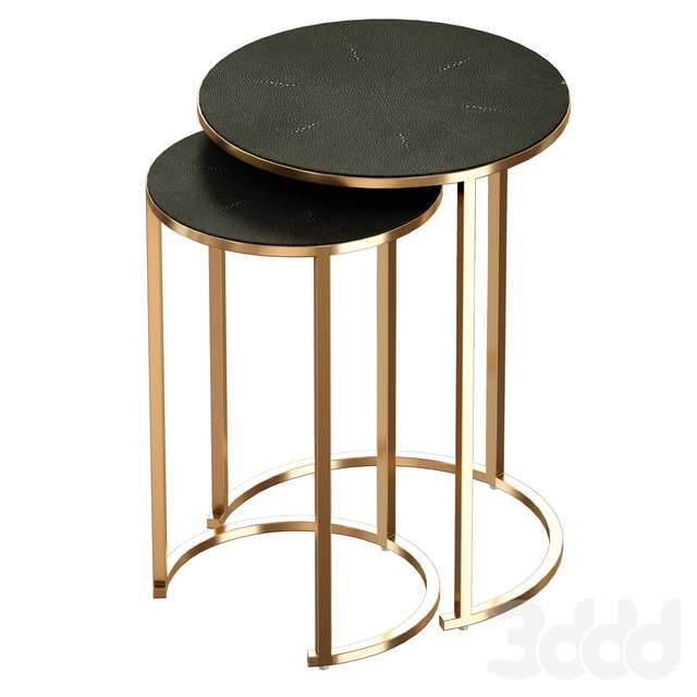 Keya Antique Brass Nesting Accent Tables (Crate and Barrel)
