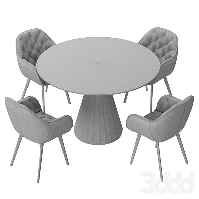 La forma & CB2 Paramount dining set