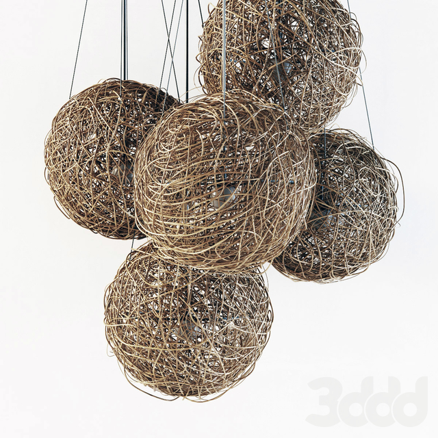 Branch decor lamp sphere n1 / Люстры сфера из веток