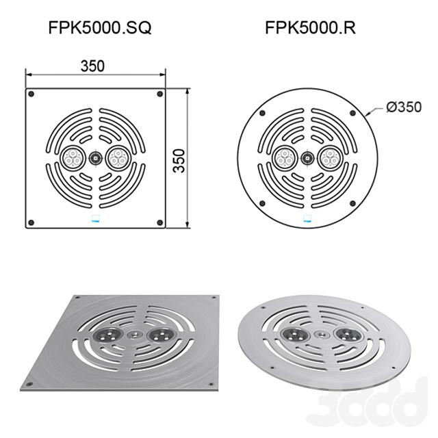 Пешеходный фонтан Dry Deck KIT FPK-5000