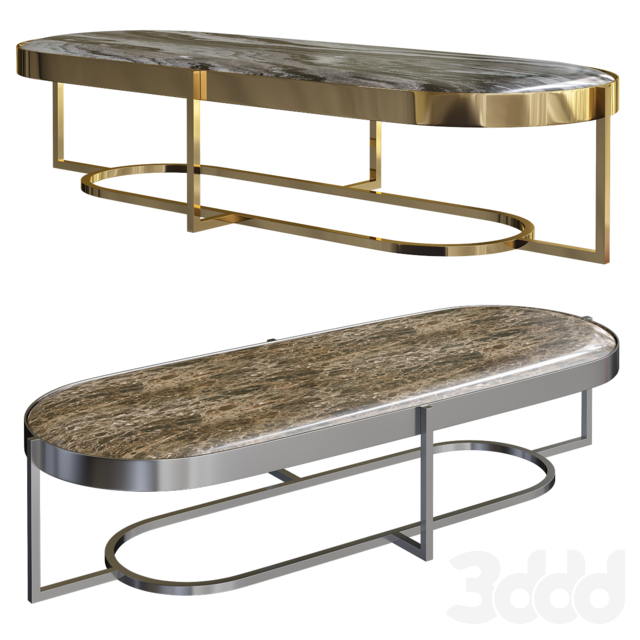 3d Modeli Stoly Raoul Oval Metal Coffee Table Opera Contemporary