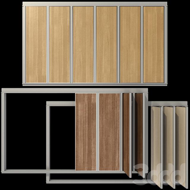 Раздвижные деревянные перегородки /  Wood Sliding Partition Walls