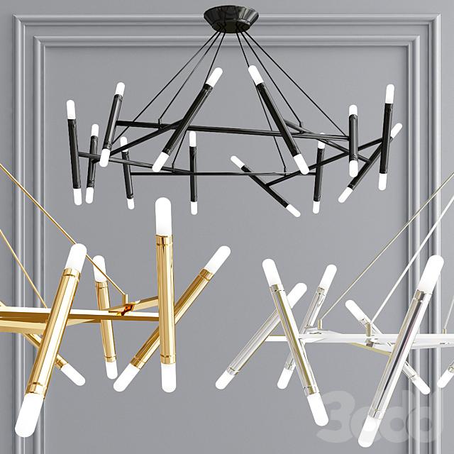 Le Petite and Le Pentagone chandelier collection