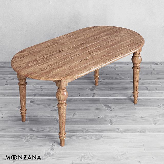 OM Овальный стол Резидентал (на 6 персон) Moonzana