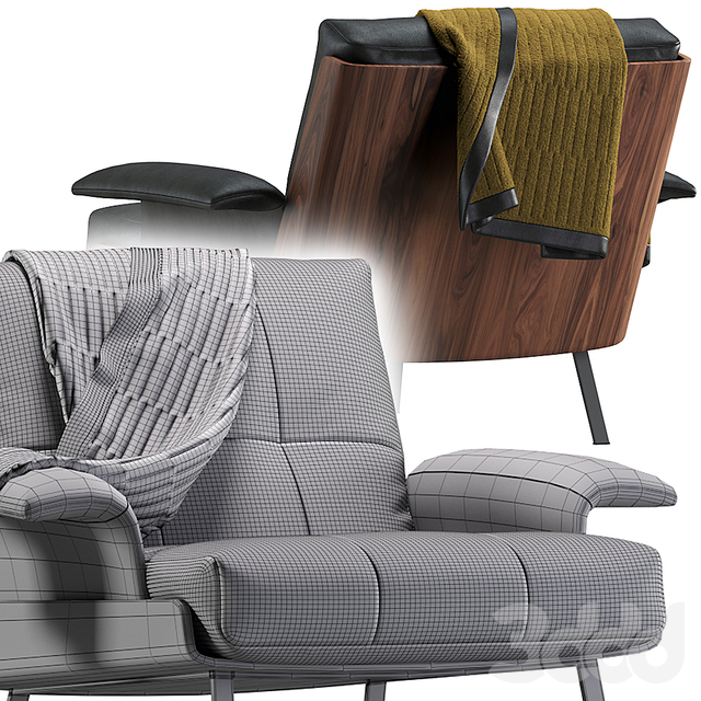 Daiki armchair by Minotti