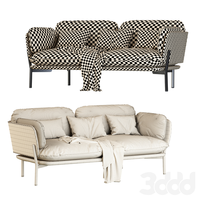 Cloud Two Seater LN2 desert stone by &TRADITION