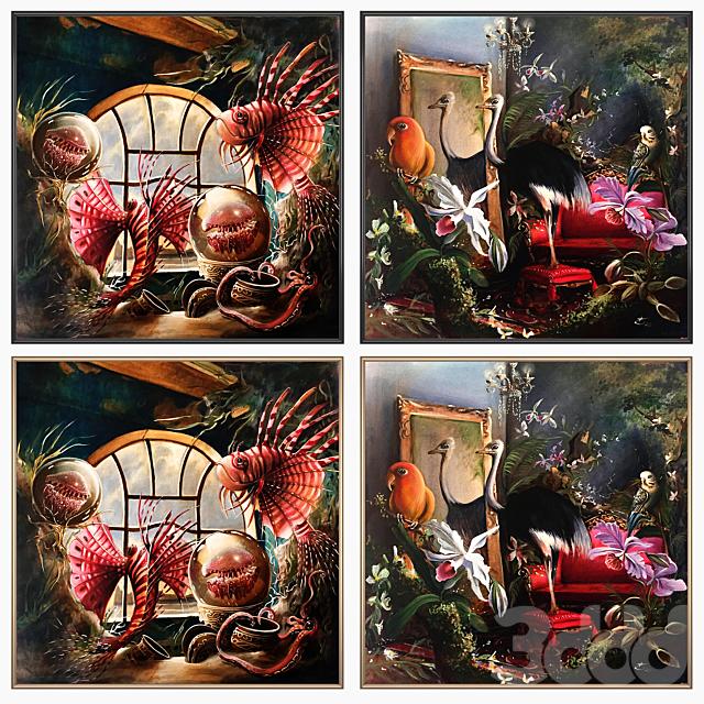 Сет из настенных картин No 1755