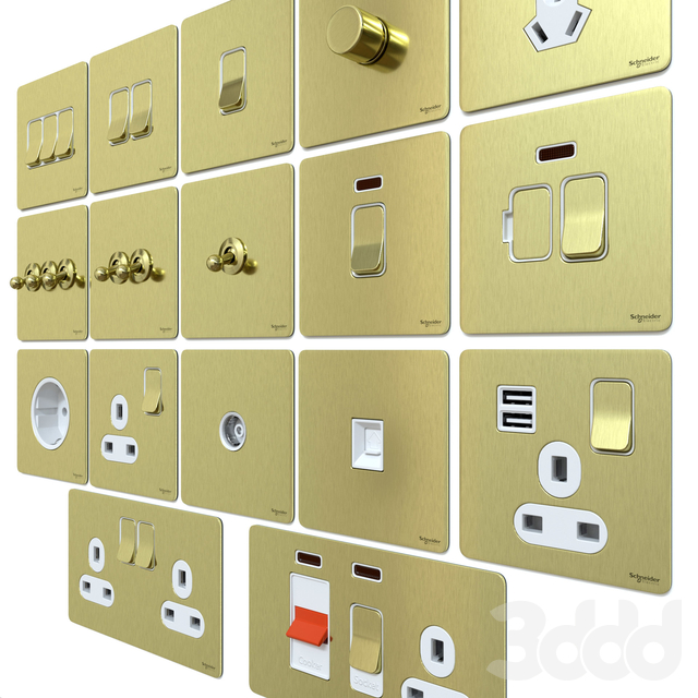 Schneider Ultimate brushed gold metal