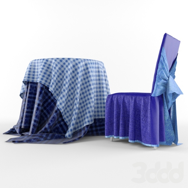 Table + Chair with tablecloth