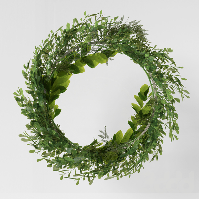 Wall hanging Green Leaf Ring-03