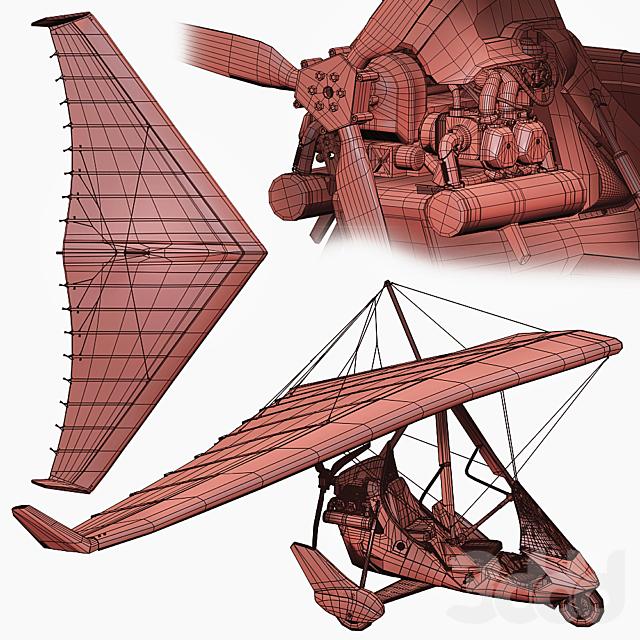 Дельталет Tanarg 912 (Детализированная high poly модель)