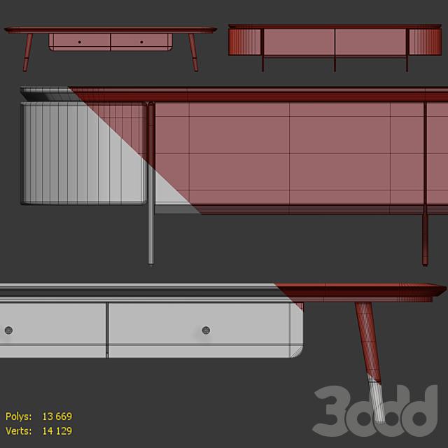 Комод и тумба под телевизор Модерн 02. Sideboard, Tvstand by LaLume