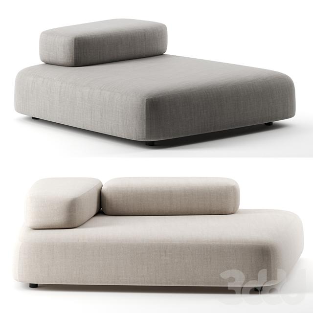 Bubble Rock sofa by Living Divani