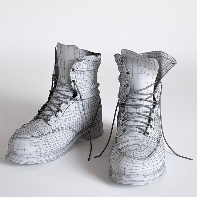 Ношенные ботинки