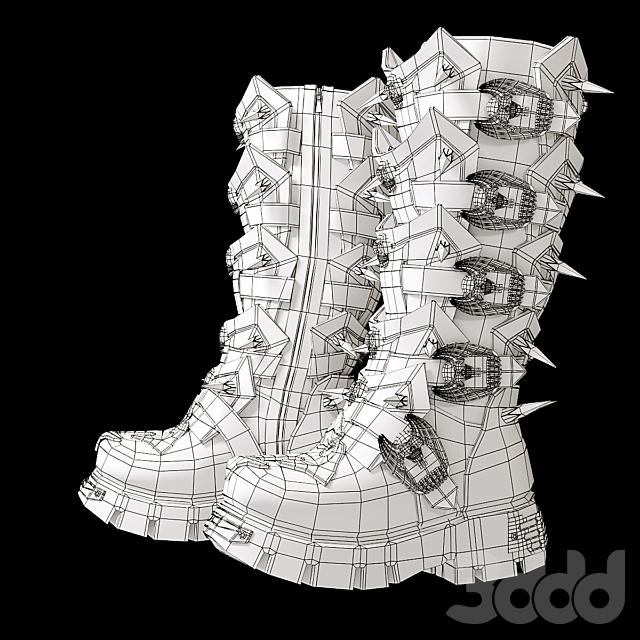 Рокерская зимняя обувь