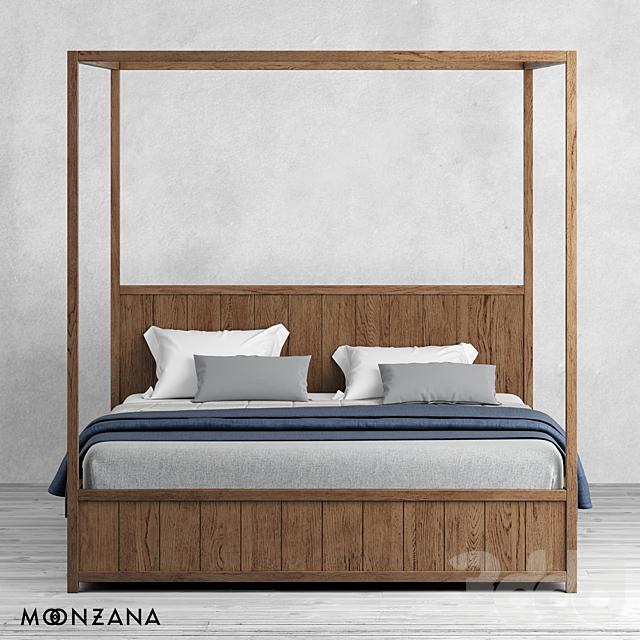 OM Кровать Принтмейкер с балдахином Moonzana