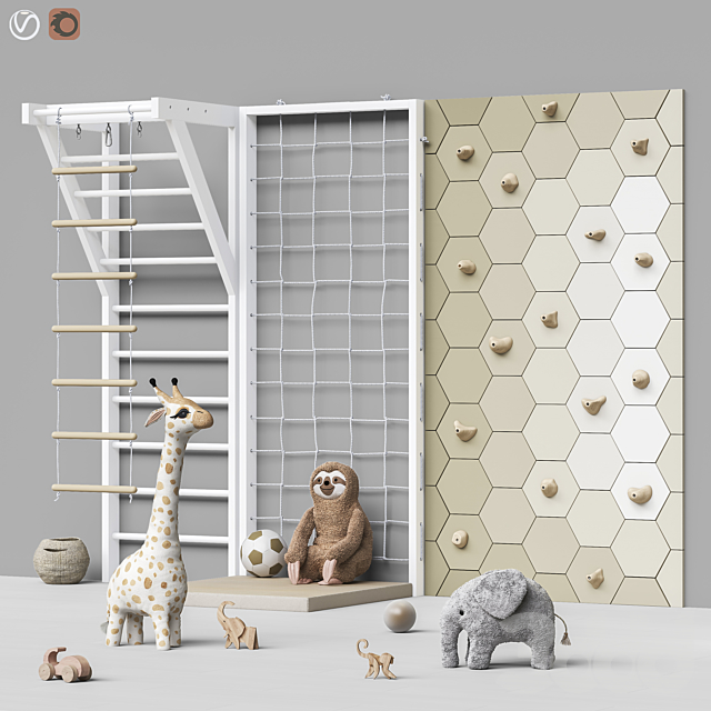 Toys and furniture set 88