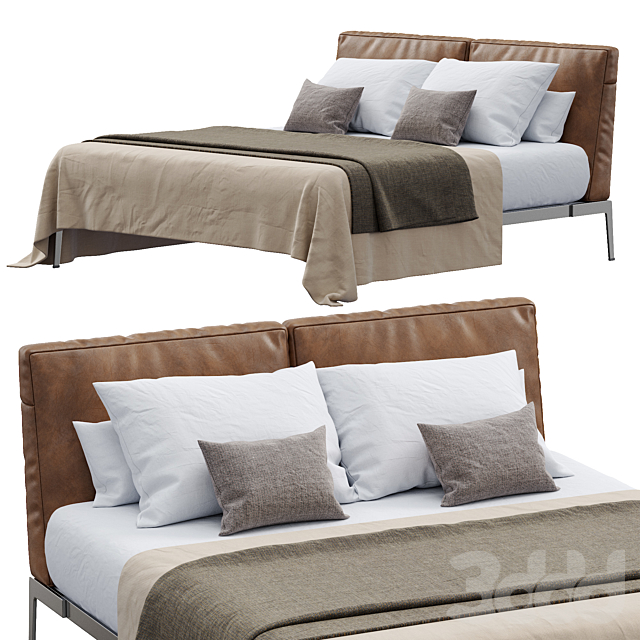 Lifesteel Bed Leather By Flexform
