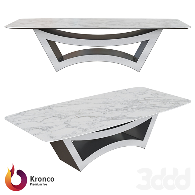 Обеденный стол из керамогранита Kronco Fort
