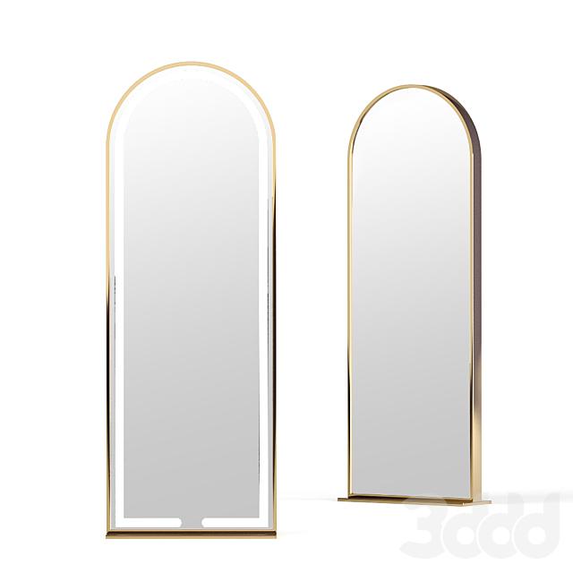 Напольное зеркало в раме из латуни LN003F от Apika