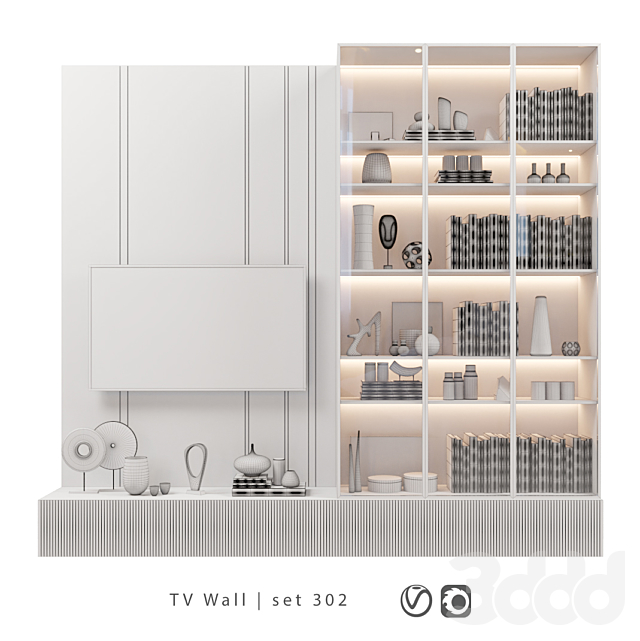 TV Wall   set 302
