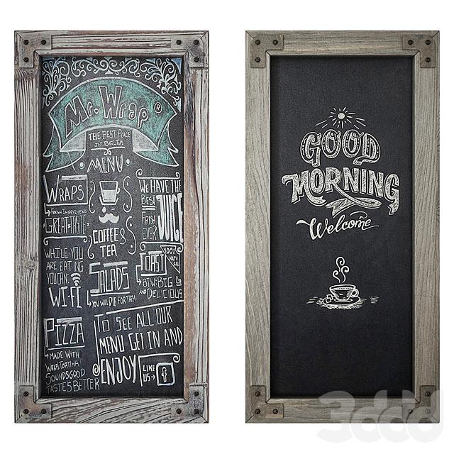 Wood Frame Chalkboard set2