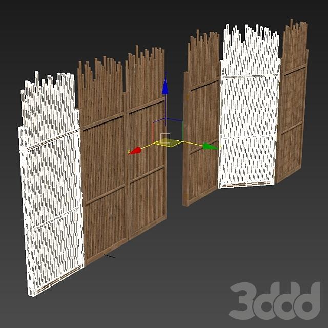 Screen branch straight  decor n1 / Ширма из прямых веток №1