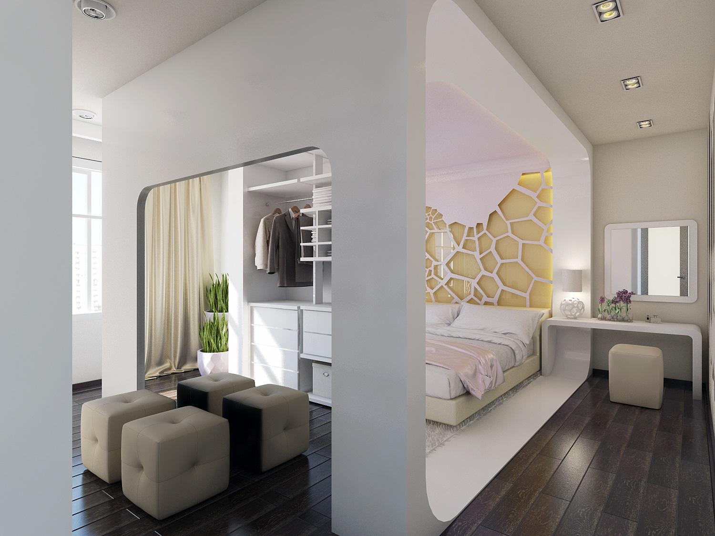 """Дизайн спальни объединенной с лоджией """" картинки и фотографи."""