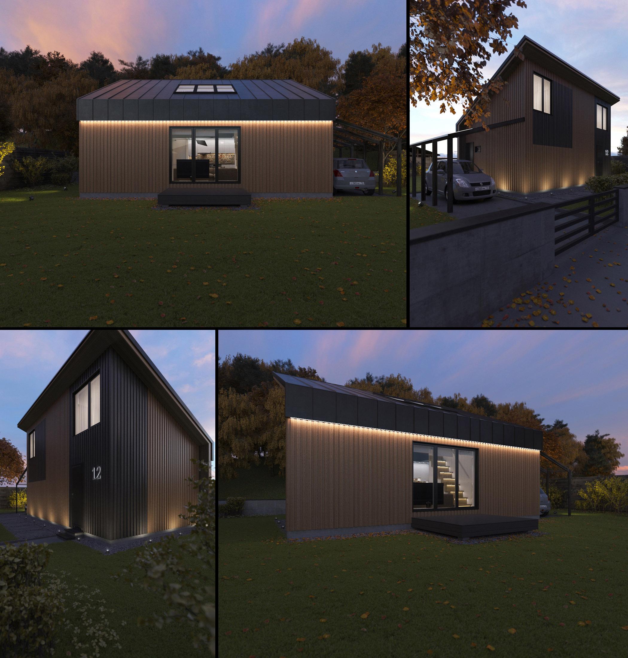 проект дом на 4 сотках фото
