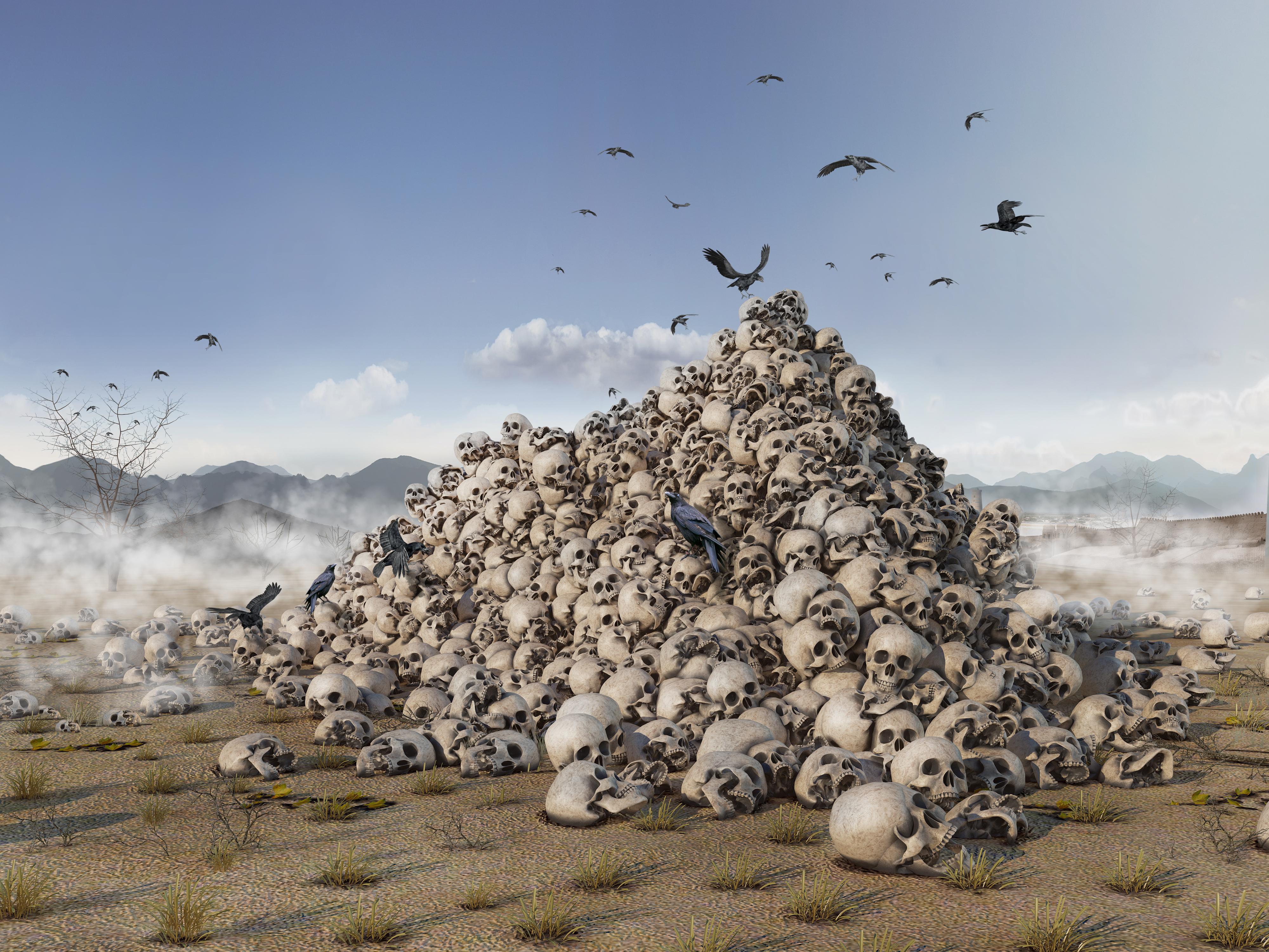Гора черепов в картинках